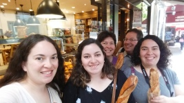 We took a behind-the-scenes tour of a patisserie, and left with warm baguettes!